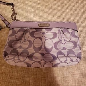 Coach Canvas Wristlet